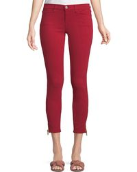 Etienne Marcel - Mid-rise Skinny Jeans W/ Side-zip Hem - Lyst