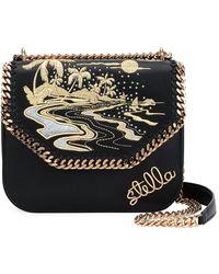 123e205e94 Stella McCartney - Falabella Hawaiian Embroidered Shoulder Bag - Lyst