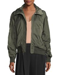 Vince - Hooded Zip-front Bomber Jacket - Lyst