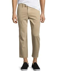 Joe's Jeans - Soder Slim Stretch Chino Pants With Cut Hem - Lyst