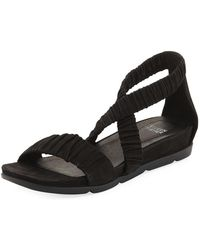 Eileen Fisher | Dylan Tumbled Scrunched Sandal | Lyst