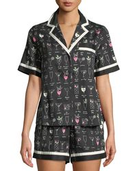 Kate Spade - Cocktails Shorty Pajama Set - Lyst