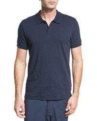 Vince - Classic Slub Cotton Polo Shirt - Lyst