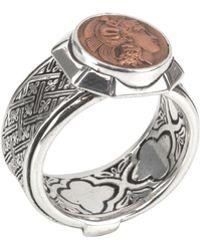 Konstantino | Men's Aeolus Sterling Silver & Scylla Copper Coin Ring | Lyst