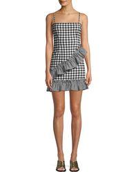 Lovers + Friends - Gabby Sleeveless Gingham-print Ruffle Short Dress - Lyst