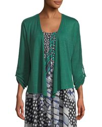 NIC+ZOE - Take Comfort Tab-sleeve Four-way Cardigan Petite - Lyst