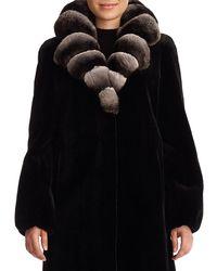 Gorski - Sheared Mink Fur Stroller Jacket With Chinchilla Fur Collar - Lyst
