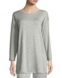 Eileen Fisher - Terry Stretch Long-sleeve Top - Lyst