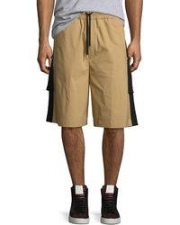 Public School - Durero Herringbone-tape Shorts - Lyst