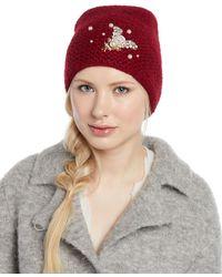 Jennifer Behr - Embellished Bee Knit Beanie Hat - Lyst