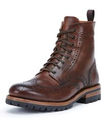 Frye - George Lugged Brogue Lace-up Boot - Lyst