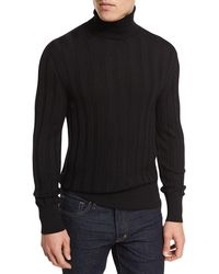 Tom Ford - Cashmere-silk Ribbed Turtleneck - Lyst