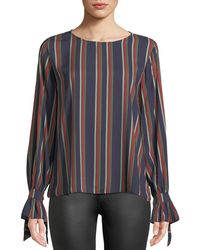 Velvet - Oakley Striped Long-sleeve Top - Lyst