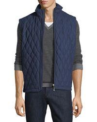 Ermenegildo Zegna - Quilted Wool-silk-cashmere Vest - Lyst