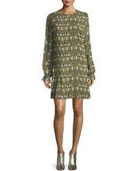 Robert Rodriguez - Floral-print Pleated Chiffon Maxi Dress - Lyst