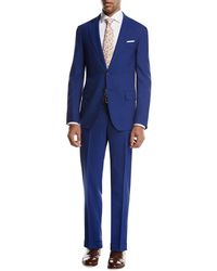 Isaia - Sanita Solid Wool Two-piece Suit - Lyst
