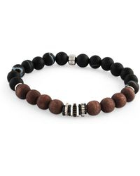 Tateossian - Men's Frosted Wood-bead Bracelet - Lyst