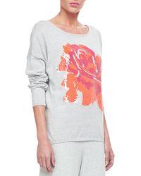 Joan Vass - Sequin Dolman Sleeve Sweater - Lyst
