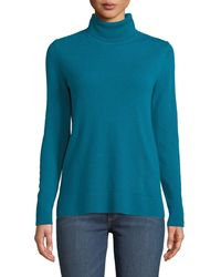 Neiman Marcus - Modern Cashmere Turtleneck Sweater - Lyst