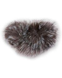 Surell - Fox Fur Ear Headband - Lyst