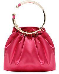 Valentino Bebop Loop Satin Clutch Bag FILLV0