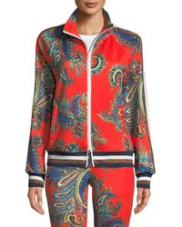 Pam & Gela - Zip-front Paisley Track Jacket With Metallic Stripes - Lyst
