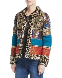 Alice + Olivia - Glennie Coat With Patches - Lyst