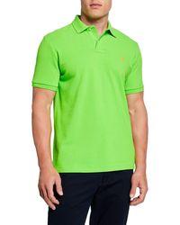 Ralph Lauren - Men's Logo-embroidered Polo Shirt Green - Lyst