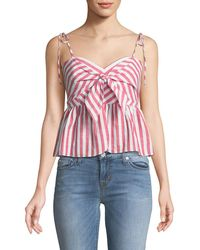 Bardot - Summer Striped Tie-front Sleeveless Top - Lyst