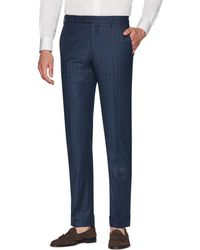 Zanella - Men's Parker Flannel District Check Wool Pants - Lyst
