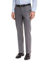 Ermenegildo Zegna | Flannel Flat-front Trousers | Lyst