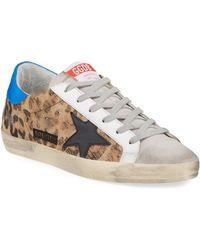 Golden Goose Deluxe Brand Superstar Leopard-print Low-top Sneakers