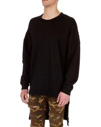 Balmain | Oversized Wool Sweatshirt With Extended Hem | Lyst
