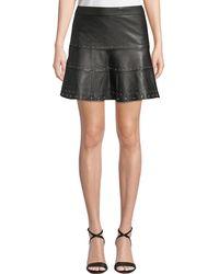 Parker - Alex Studded Leather Mini Skirt - Lyst