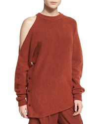 Tibi - Cozy Cutout Melange Sweatshirt - Lyst