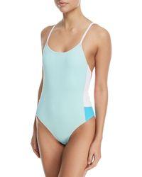 Xirena - Harlow Colorblocked One-piece Swimsuit - Lyst