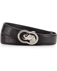 Stefano Ricci - Crocodile Belt With Silvertone Elephant Buckle - Lyst