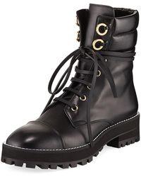 Stuart Weitzman - Lexy Leather Combat Boot - Lyst