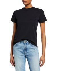 Helmut Lang - Stacked Embroidered Logo Tee - Lyst