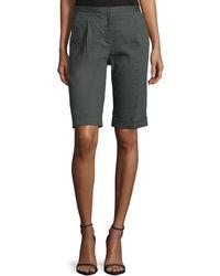 Tahari - City Slim-fit Bermuda Shorts - Lyst