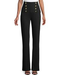 ESCADA - High-waist Straight-leg Jersey Sailor Pants - Lyst