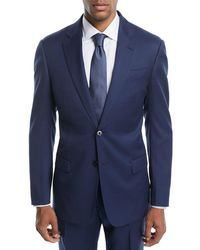Emporio Armani - Graph Check Two-piece Wool Suit - Lyst