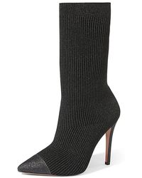 84e05e3fb2ab Alice + Olivia - Darbin Knitted Sock Booties - Lyst