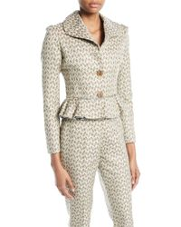 Brock Collection - Jada Two-button Floral-jacquard Short Jacket - Lyst