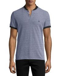 ELEVEN PARIS - Nelson Heathered Polo Shirt - Lyst