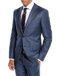 Ermenegildo Zegna - Men's Tonal Plaid Two-piece Wool Suit - Lyst