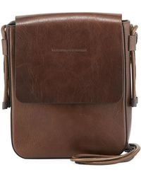 Lyst - Brunello Cucinelli Contraststrap Leather Messenger Bag in ... ca10bd33db