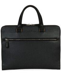 Ferragamo - Men's Revival Slim Leather Briefcase - Lyst