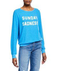 Wildfox - Sunday Sadness Baggy Beach Sweatshirt - Lyst