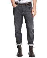 Brunello Cucinelli - Selvedge Denim Leisure-fit Jeans - Lyst